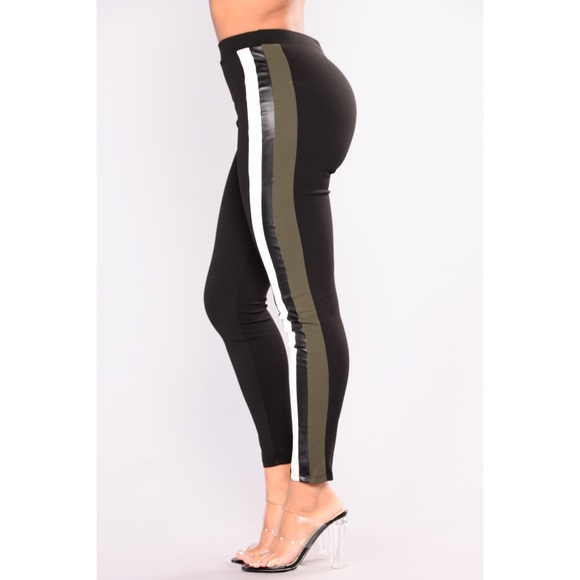 3932ebb918de2 Fashion Nova Pants | Highwaist Leather Stripe Legging Nwt | Poshmark